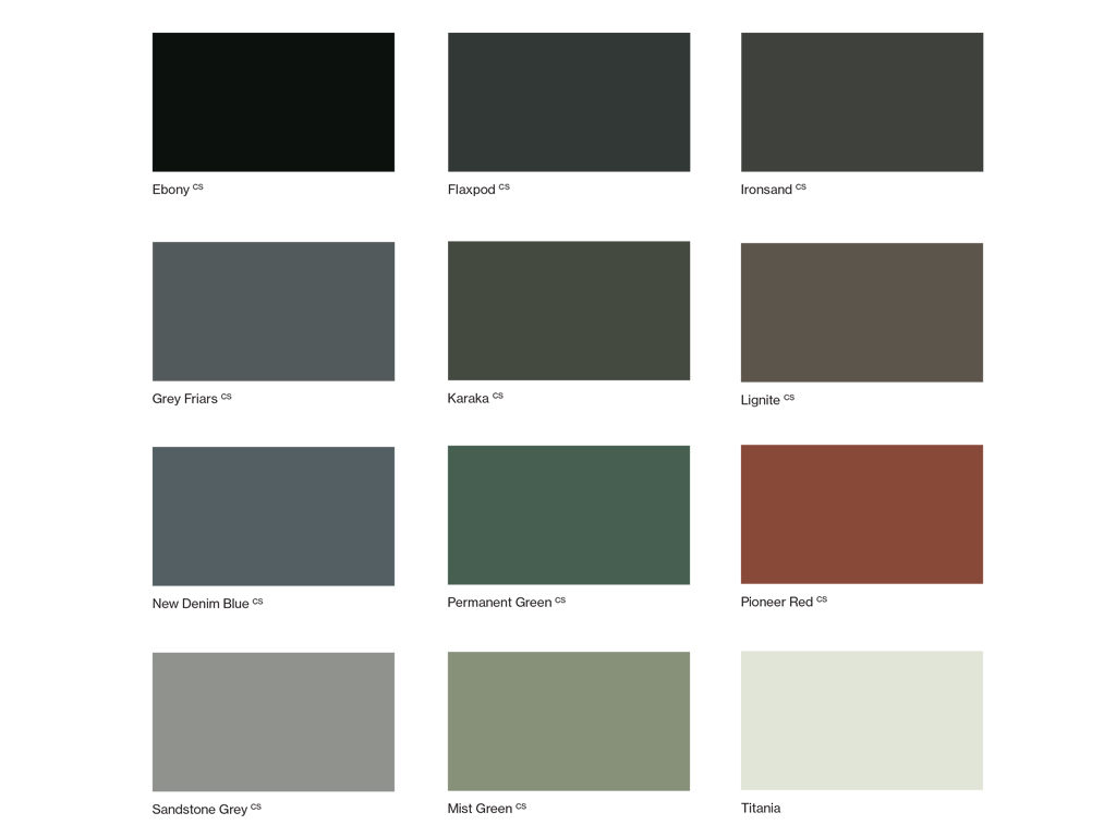 Procoat Roof swatches